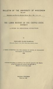 Cover of: The labor history of the Cripple Creek district | Benjamin McKie Rastall