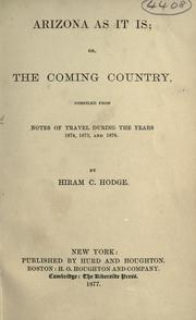 Cover of: Arizona as it is | Hiram C. Hodge
