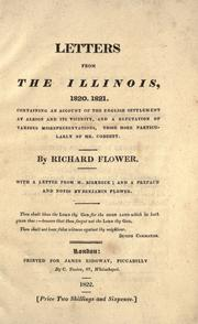 Cover of: Letters from the Illinois, 1820, 1821 | Richard Flower