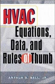 Cover of: HVAC Equations, Data and Rules of Thumb | Arthur A. Bell