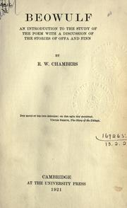 Cover of: Beowulf by R. W. Chambers