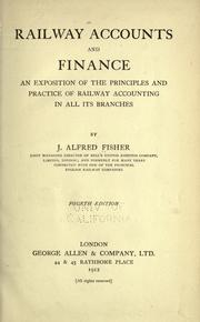 Cover of: Railway accounts and finance | Joseph Alfred Fisher