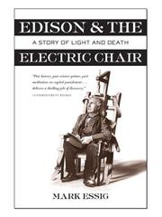 Cover of: Edison and the Electric Chair by Mark Essig
