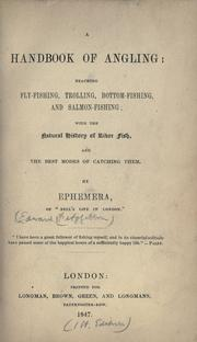 Cover of: A handbook of angling | Edward Fitzgibbon