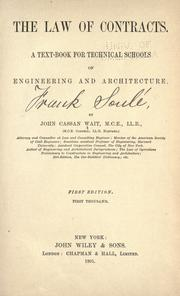Cover of: The law of contracts by Wait, John Cassan