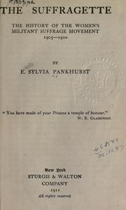 Cover of: The suffragette by E. Sylvia Pankhurst