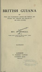 Cover of: British Guiana by L. Crookall