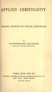 Cover of: Applied Christianity | Washington Gladden