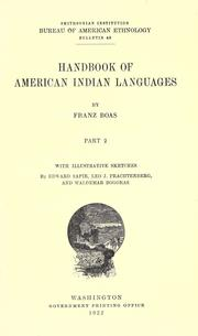 Cover of: Handbook of American Indian languages by Franz Boas