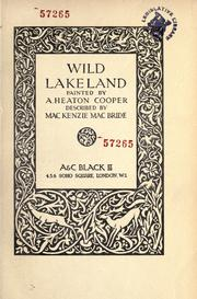 Cover of: Wild Lakeland | Mackenzie MacBride