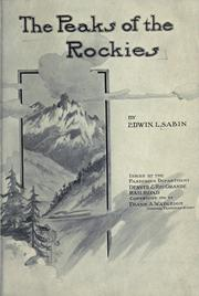 Cover of: The  peaks of the Rockies by Edwin L. Sabin