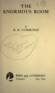 Cover of: The Enormous Room | E. E. Cummings