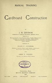 Cover of: Manual training by John Herman Trybom