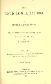 The World as Will and Idea, Volume 3