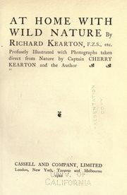 Cover of: At home with wild nature | Richard Kearton