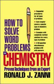 Cover of: How to Solve Word Problems in Chemistry (How to Solve Word Problems (McGraw-Hill)) | Ronald J. Zanni