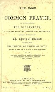 Cover of: Book of common prayer | Church of England
