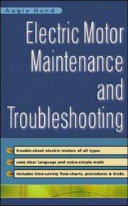 Cover of: Electric Motor Maintenance and Troubleshooting | Augie Hand