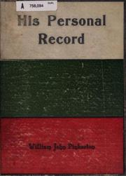 Cover of: His Personal Record | William John Pinkerton