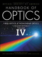 Cover of: Handbook of Optics, Volume IV | Optical Society of America