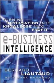 Cover of: e-Business Intelligence | Bernard Liautaud