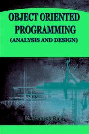 Cover of: COMPUTER SCIENCE OBJET ORIENTED PROGRAMMING (ANALYSIS AND DESIGN) | RAMESH RAJA M