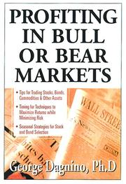 Cover of: Profiting In Bull or Bear Markets by George Dagnino
