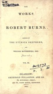 Cover of: Works | Robert Burns