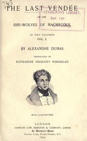 Cover of: The last Vendée by Alexandre Dumas