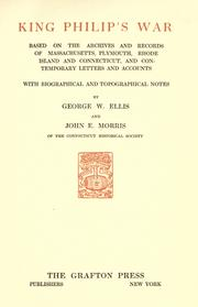 Cover of: King Philip's war by George William Ellis