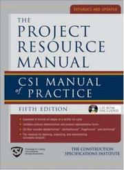 Cover of: Project Resource Manual (PRM) | The Construction Specifications Institute