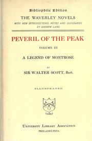 Cover of: Peveril of the Peak by Sir Walter Scott