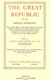 Cover of: The great republic | Morris, Charles
