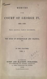 Memoirs of the court of George IV, 1820-1830