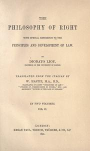 Cover of: The Philosophy Of Right | Diodato Lioy