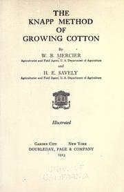 Cover of: The Knapp method of growing cotton | W. B. Mercier