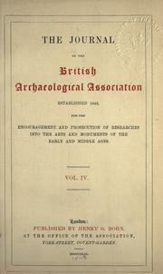 Cover of: Journal - British Archaeological Association | British Archaeological Association