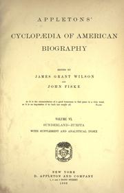 Cover of: Appletons' cyclopædia of American biography | James Grant Wilson