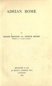 Cover of: Adrian Rome | Ernest Christopher Dowson