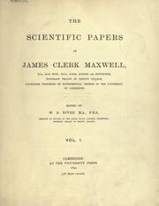 Cover of: The scientific papers | James Clerk Maxwell