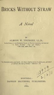 Cover of: Bricks without straw by Albion Winegar Tourgée
