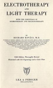 Cover of: Electrotherapy and light therapy by Richard Kovács