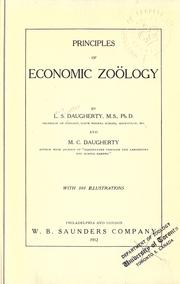 Cover of: Principles of economic zoölogy | Lewis Sylvester Daugherty