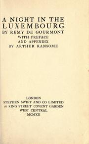Cover of: A night in the Luxembourg by Remy de Gourmont
