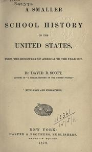 Cover of: A smaller school history of the United States by David B. Scott