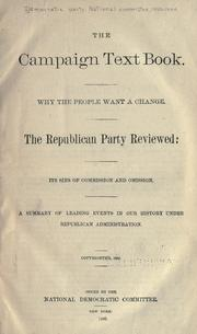 Cover of: The campaign text book by Democratic National Committee (U.S.)