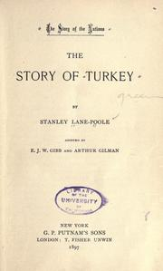 Cover of: The story of Turkey | Stanley Lane-Poole