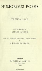 Cover of: Poems by Thomas Hood by Thomas Hood