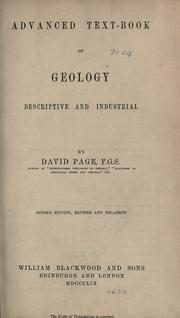 Cover of: Advanced text-book of geology | Page, David