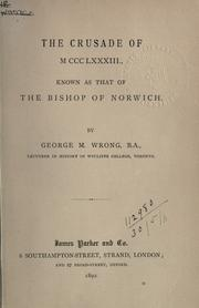 Cover of: The crusade of MCCCLXXXIII by George McKinnon Wrong